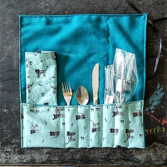 handmade Other - Reusable Utensils and Metal Straw Zero Waste Pack